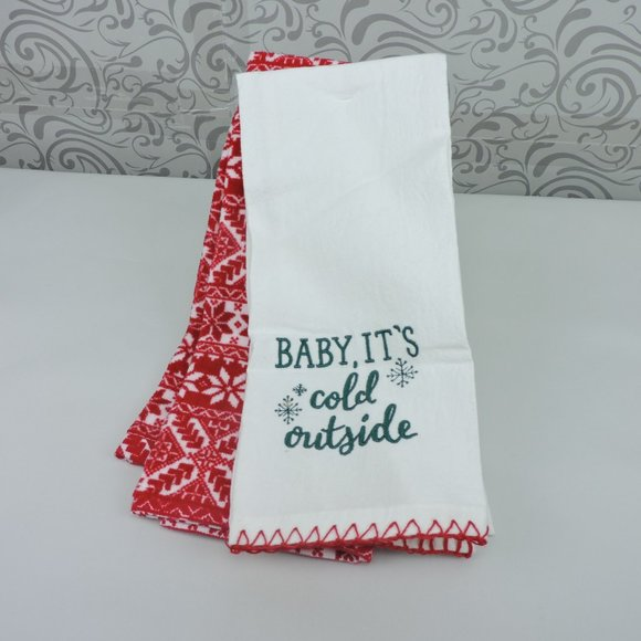 Baby It's Cold Outside Kitchen Towel Set Christmas